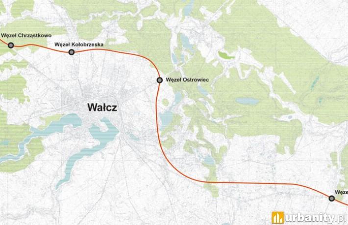 Projekt obwodnicy Wałcza