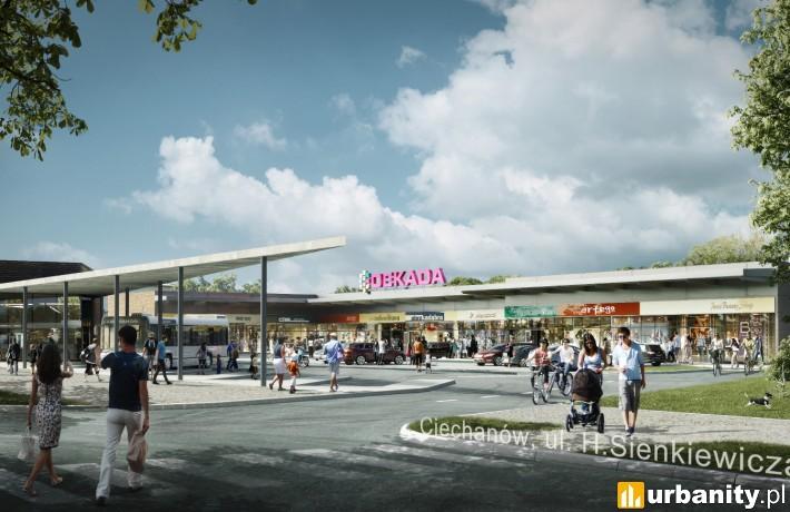 Projekt ciechanowskiej galerii handlowej zintegrowanej z dworcem autobusowym