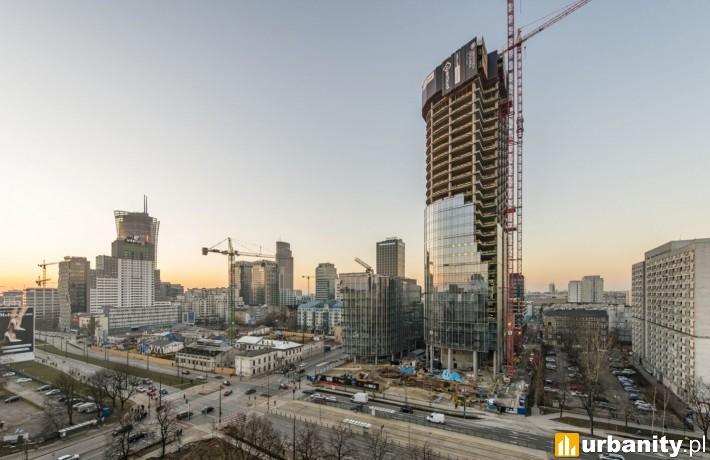 Tak obecnie wygląda budowa Mennica Legacy Tower