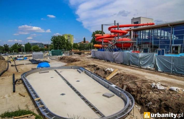 Postęp prac na budowie wrocławskiego Aquaparku fot. Aquapark Wrocław