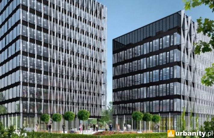 Wizualizacja kompleksu Arkada Business Park w Bydgoszczy