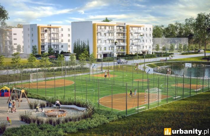 Projekt osiedla Optima wraz z boiskami do gry