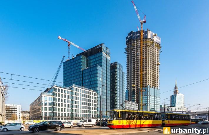 Tak obecnie wygląda budowa kompleksu Varso Place (fot. HB Reavis)