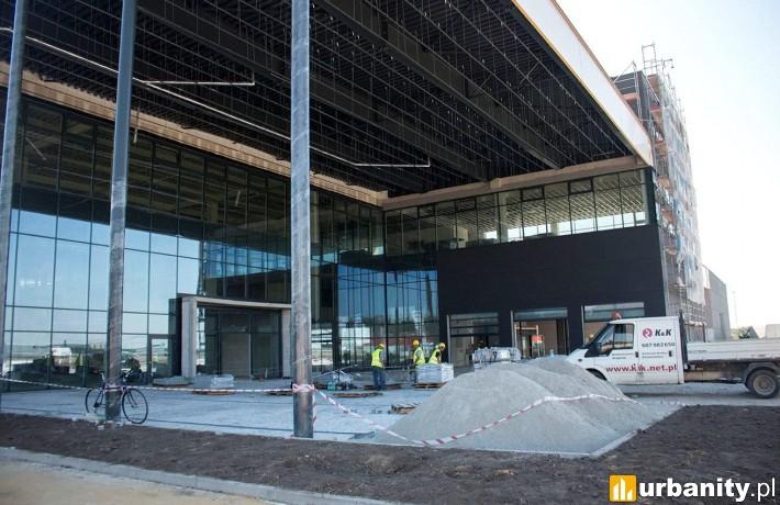 Tak wygląda obecnie stan budowy nowego salonu Mercedesa we Wrocławiu