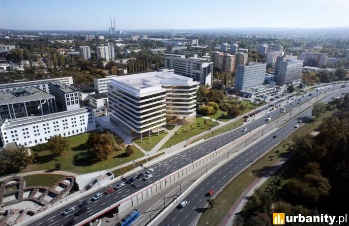 Projekt biurowca Axis w Krakowie