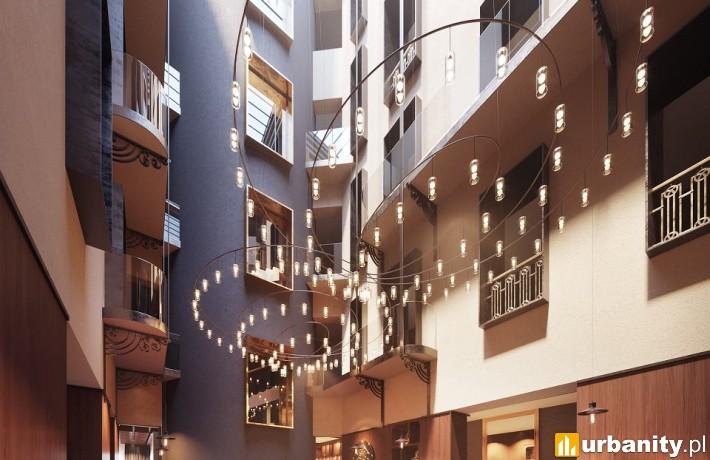 Wnętrza hotelu Le Méridien w Krakowie - wizualizacja