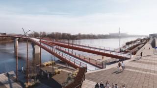 Most pieszo-rowerowy przez Wisłę