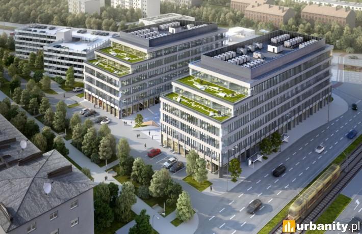 Projekt kompleksu biurowego Imagine w Łodzi
