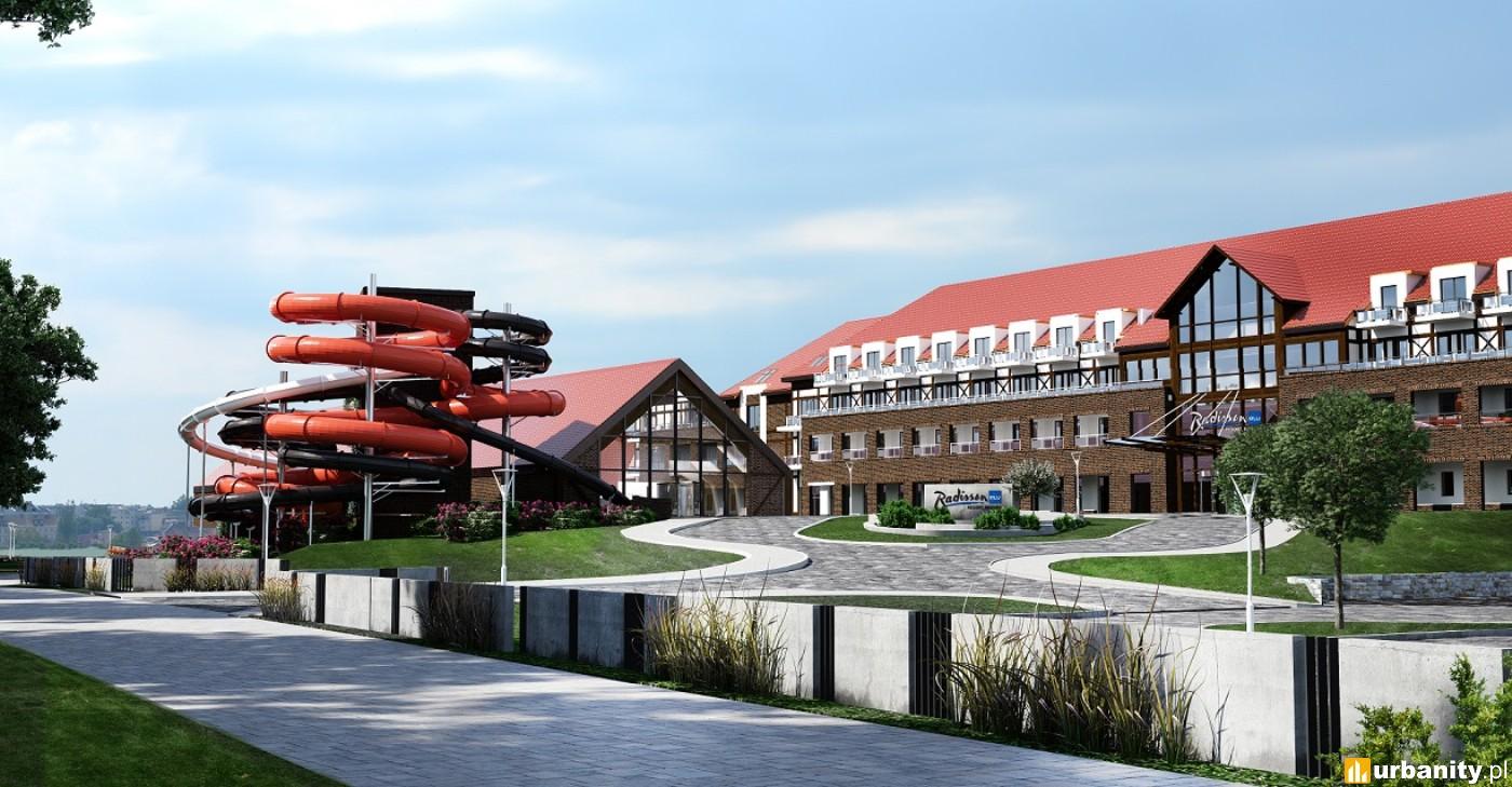 Hotel z własną przystanią i parkiem wodnym w Ostródzie