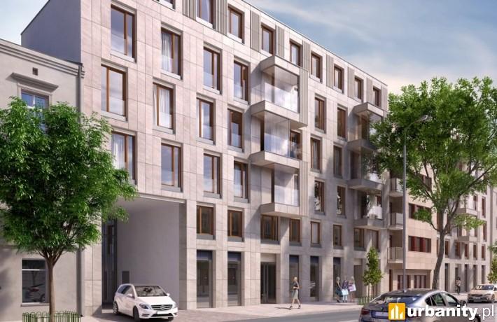 Kościuszki Apartments w Krakowie - wizualizacja