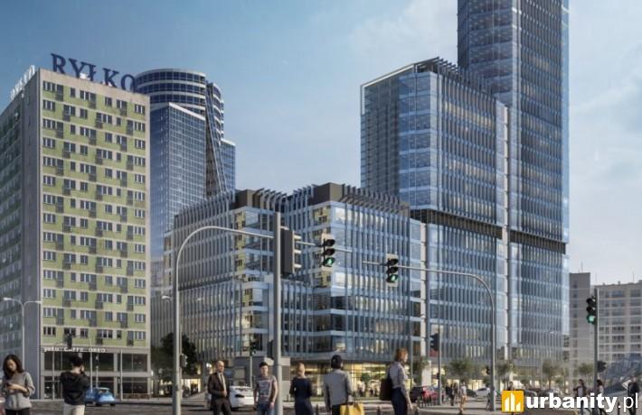 Projekt wieżowca, który stanie przy ulicy Świętokrzyskiej w Warszawie