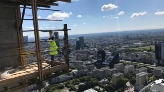Widok ze szczytu wieżowca Skyliner, fot. Warbud