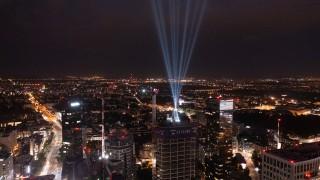 Wiecha na budowie wieżowca Skysawa w Warszawie