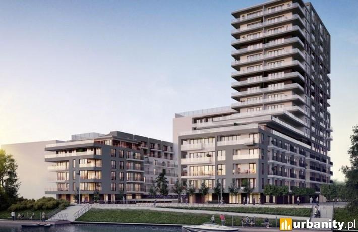 Projekt apartamentowca Angel River we Wrocławiu
