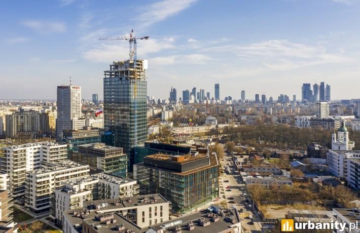 Docelowa wysokość wieżowca Forest w Warszawie