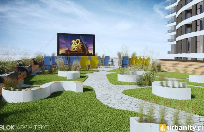 Letnie kino plenerowe na terenie inwestycji ST 55