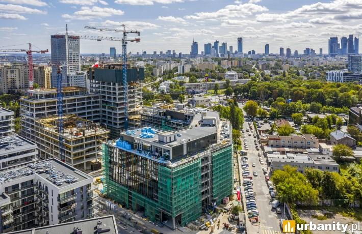 Postęp prac na budowie kompleksu Forest w Warszawie