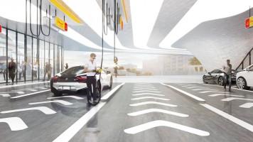 wizualizacje Stacja benzynowa Shell