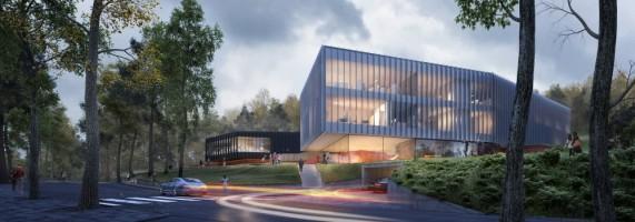 zdjęcie z budowy Centrum Kompetencji STOS
