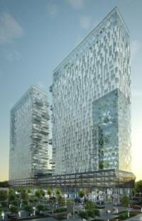 wizualizacje Zespół biurowo-mieszkaniowo-usługowo-hotelowy