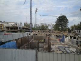 zdjęcie z budowy Marywilska Osiedle Kameralne