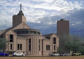 zdjęcie z budowy Sanktuarium Bożego Miłosierdzia
