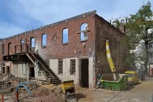 zdjęcie z przebudowy Centrum Aktywności Lokalnej