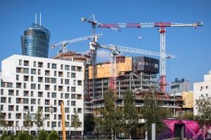 zdjęcie z budowy The Warsaw Hub