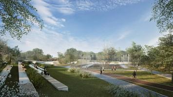 zdjęcie z budowy Park Centralny