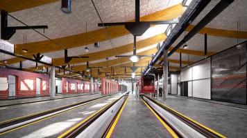 wizualizacje Centrum obsługi tramwajów