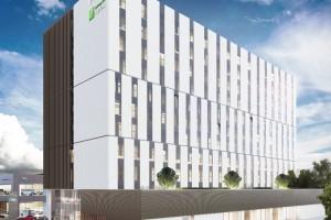 zdjęcie z budowy Holiday Inn Express i Staybridge Suites