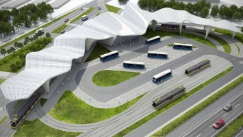 zdjęcie z budowy Centrum przesiadkowe Zawodzie