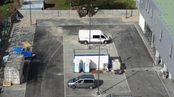 zdjęcie Lidl z parkingiem wielopoziomowym