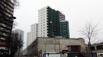 zdjęcie z budowy Cztery Wieże