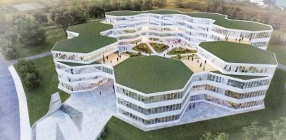 wizualizacje Centrum biurowo-technologiczne Logintrans