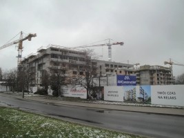 zdjęcie z budowy Miasteczko Nova Ochota