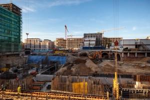 zdjęcie z budowy Browary Warszawskie