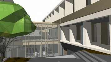 zdjęcie z budowy Collegium Pharmaceuticum Wydziału Farmaceutycznego Uniwersytetu Medycznego