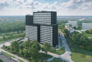 zdjęcie z budowy ATAL Warta Towers