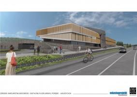 zdjęcie z budowy Wielofunkcyjne centrum sportowe