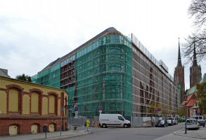 zdjęcie z budowy Hotel na Ostrowie Tumskim