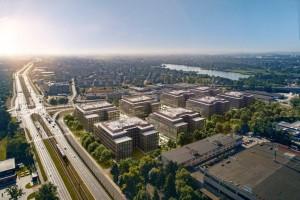 zdjęcie z budowy The Park Kraków