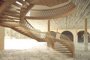 zdjęcie z przebudowy Centrum Muzealno-Edukacyjne Karkonoskiego Parku Narodowego