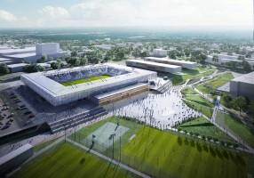 wizualizacje Nowy stadion piłkarski