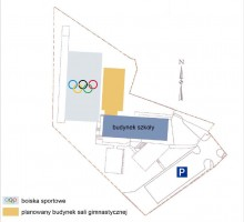 zdjęcie z budowy Hala sportowa i boisko Momina