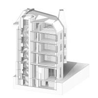 zdjęcie z przebudowy Kamienica Barlickiego