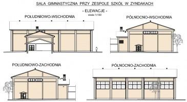 zdjęcie z budowy Sala gimnastyczna przy ZS w Zyndakach