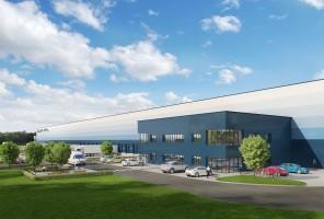 zdjęcie z budowy GLP Lędziny Logistics Centre