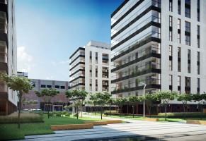 zdjęcie z budowy Central Garden Apartments