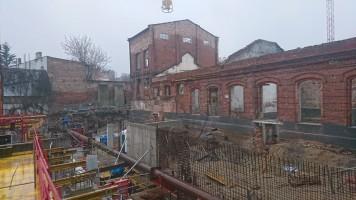 zdjęcie z budowy Manufaktura Stare Miasto